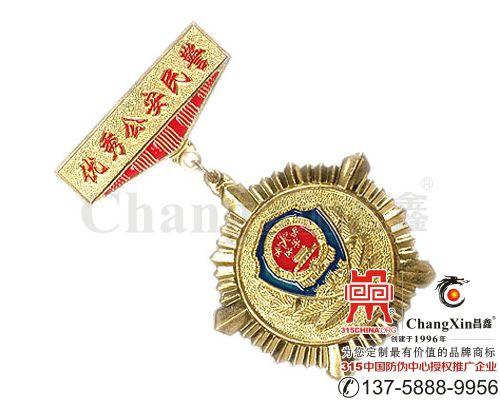 优秀公安民警奖章(勋章)-
