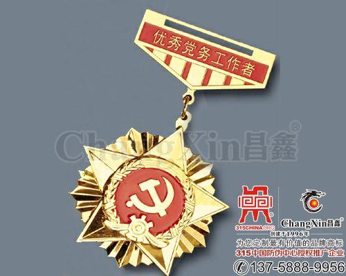 优秀党务工作者奖章-